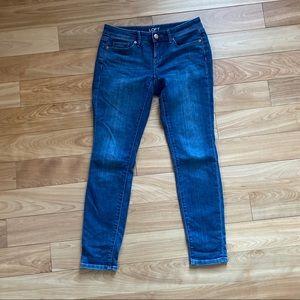 💚 3/$20 LOFT outlet curvy skinny jeans - size 0P